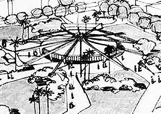 Coppelia (ice cream parlor) - Image: Primer boceto del arquitecto Mario Girona para la heladería Coppelia 1965