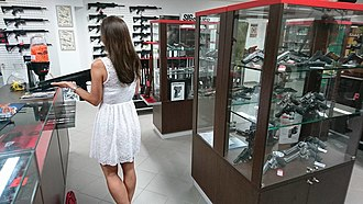Gun laws in the Czech Republic - A gun shop in Prague. Pistols, modern sporting rifles and standard capacity magazines are all shall issue.