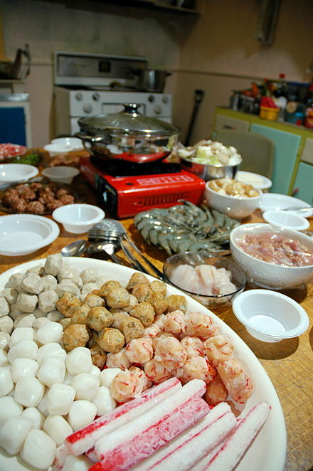 Processed seafood - fish, squid, prawn balls and simulated crab sticks (surimi) Processed seafood.jpg