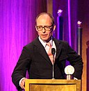 Producer Hugo Blick accepts the Peabody for The Honourable Woman.jpg
