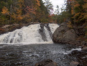 Smith River (Pemigewasset River) - Profile Falls on the Smith River near Bristol, New Hampshire