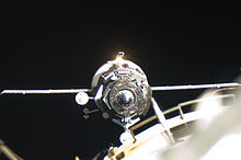 Progress M-11M approaches the ISS on June 23, 2011