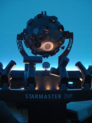 Professor Aristóteles Orsini Planetarium - The projector in the theatre
