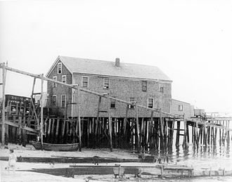 Eugene O'Neill - O'Neill's first play, Bound East for Cardiff, premiered at this theatre on a wharf in Provincetown, Massachusetts.