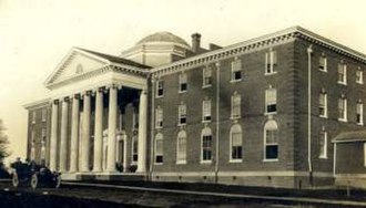Chatham Hall - Pruden Hall, Chatham Episcopal Institute, from a postcard, pre 1920