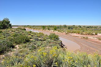 Puerco River - Flowing near Puerco Pueblo, in Petrified Forest National Park