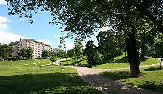 Punavuori - Sinebrychoff park in Punavuori