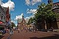 Purmerend - Hoogstraat - Kaasmarkt - View NE on former Town Hall 1912 & Koepelkerk 1853.jpg