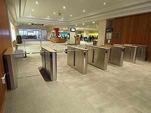 Turnstile - Image: Q Lane Space Saver Turnstiles