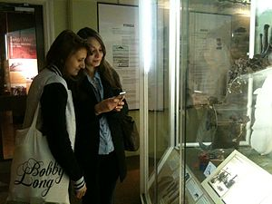 English: Two French Wikipedians at Derby Museu...