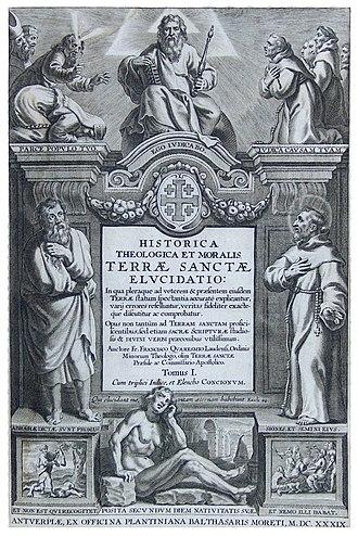 Franciscus Quaresmius - Elucidatio title page.
