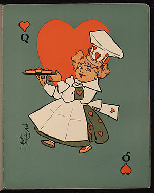 The Queen of Hearts, from a 1901 edition of Mo...