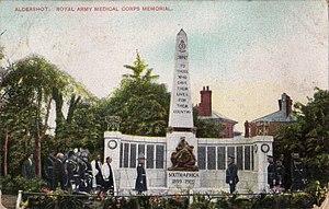 RAMC Memorial, Aldershot - Edward VII (right) dedicating the memorial in 1905