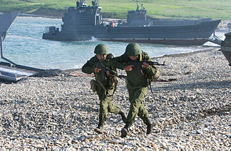 Russian Navy - Russian Naval Infantrymen during the Vostok Strategic Exercise in Vladivostok, 2010.