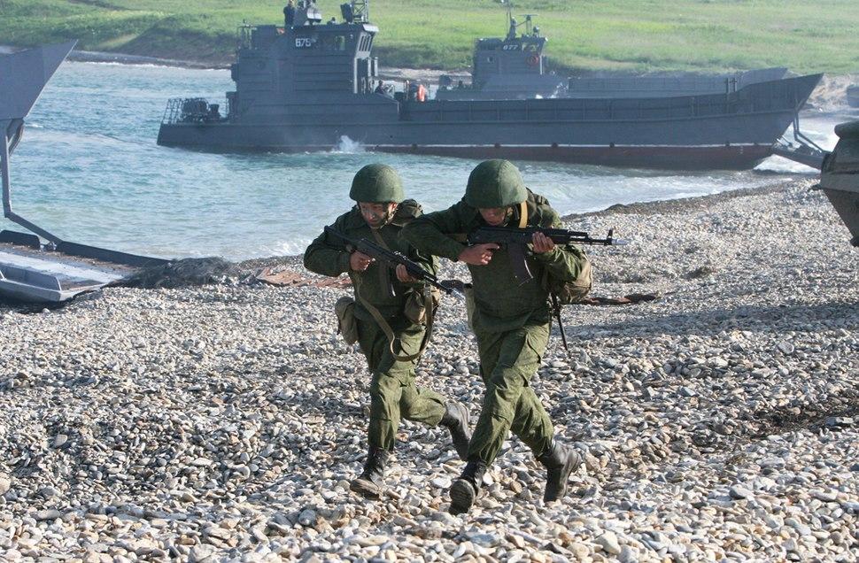 RIAN archive 711423 Vostok 2010 Strategic Exercise in Vladivostok