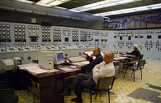 Mining and Chemical Combine - Control room at the MCC in Zheleznogorsk