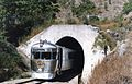 RM 2017 emerges from a tunnel in the Hervey Range, Greenvale - Yabulu line, ~1991.jpg