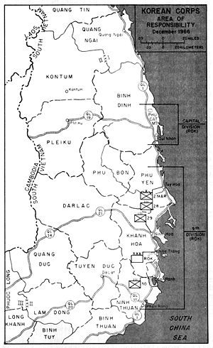 Koreans in Vietnam - The areas of responsibility of the South Korean army in Vietnam as of December 1966