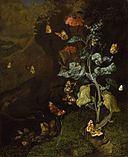 Rachel Ruysch - Insects and a lizard in a wood - PD.87-1973.jpg