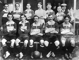 Racing Club de Avellaneda - Racing in 1906, wearing the blue and white jersey.