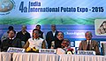 Radha Mohan Singh and the Minister of Agriculture & Horticulture Development of Haryana, Shri Om Prakash Dhankar at the 4th India International Potato Expo-2015, in Chandigarh on January 16, 2015.jpg