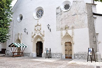 Radovljica - Portal of St Peter's Church