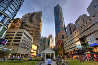 Raffles Place - Centre square of Raffles Place
