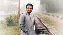 Rafi at rail line.jpg