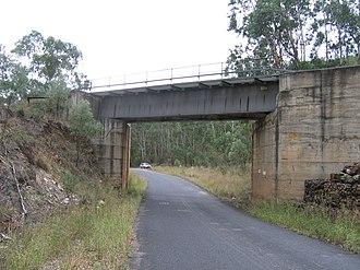 Bylong Valley Way - Rail bridge carrying Ulan line over Bylong Valley Way near Coxs Gap