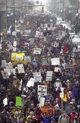 Thomas Merton Center (Pittsburgh) - Rally in 2003 to end the war in Iraq