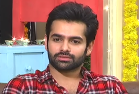 Ram at Unnadi Okate Zindagi interview.png
