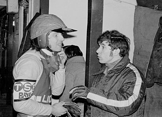 Leicester Lions - Ray Wilson and Dave Jessup discuss tactics, circa 1975