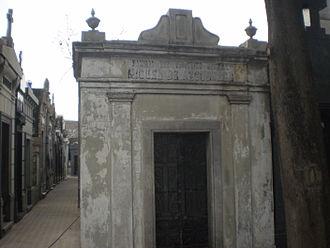 Miguel de Azcuénaga - Cenotaph of Azcuénaga at the La Recoleta Cemetery