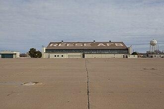 Reese Technology Center - Aircraft hangar at the former Reese Air Force Base, now Reese Technology Center