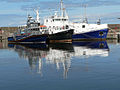 Reflections in Buckie harbour - geograph.org.uk - 1569266.jpg