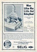 Release flier for WHEN LILLIAN WAS LITTLE RED RIDING HOOD, 1913.jpg