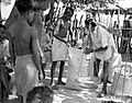 Relief grain distribution, Dhamtari, India, 1966 (16232285664).jpg
