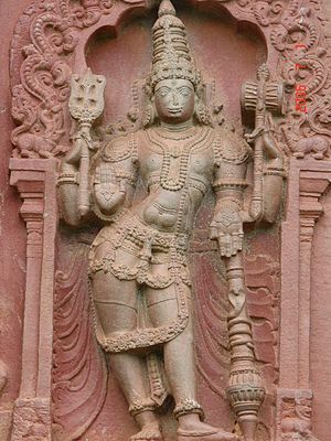 Shimoga district - Outer wall carving, Aghoreshwara temple, Ikkeri, Sagar taluk Shimoga District.