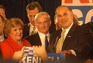 Thomas J. Murphy Jr. - Lt. Governor Catherine Knoll, Tom Murphy (center), and Governor Ed Rendell at a political event