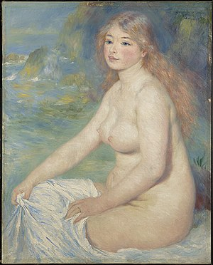 Blonde Bather - Image: Renoir Blond Bather