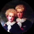 Retrato do Principe Real D. Carlos e do Infante D. Afonso - Joseph Fortuné Séraphin Layraud (Palácio da Ajuda).png