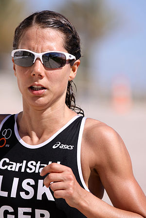 Ricarda Lisk - Ricarda Lisk at the European Cup triathlon in Quarteira, 2011.