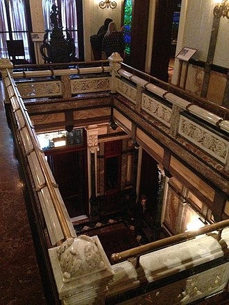 Driehaus Museum - Looking down from the second floor