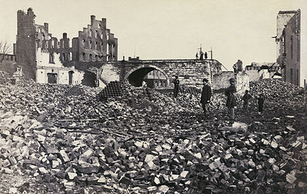 Retreating Confederates burned one-fourth of Richmond in April 1865 Richmond Virginia damage2.jpg