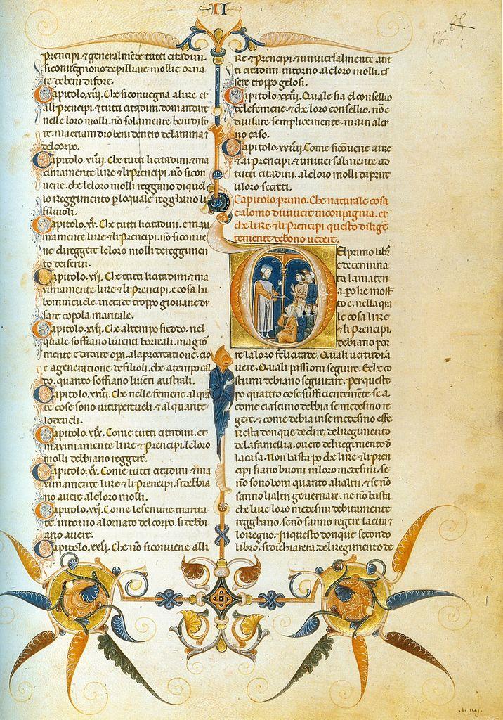 File:Rinaldo da Siena. Miniature from Livre du gouvernement des ...