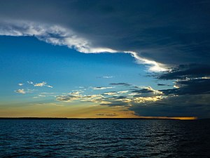 Rio Negro (Amazon) - Sunset over the Rio Negro, upstream from Manaus