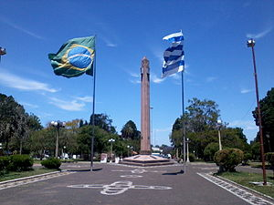 Uruguayan Portuguese - Border of Peace between Rivera and Livramento.