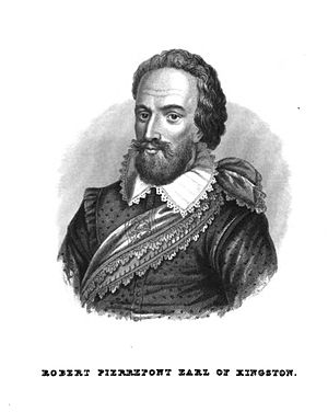 Robert Pierrepont, 1st Earl of Kingston-upon-Hull - From Bailey's Annals of Nottinghamshire, 1853