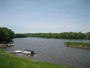 Grand Detour, Illinois - The Rock River in Grand Detour