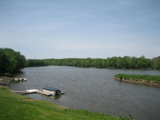 Grand Detour, Illinois - The Rock River in Grand Detour